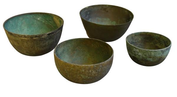 18thc Cambodia Bronze Bowls