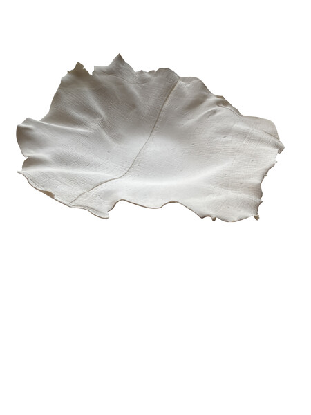 Contemporary French White Porcelain Linen Textured Bowl