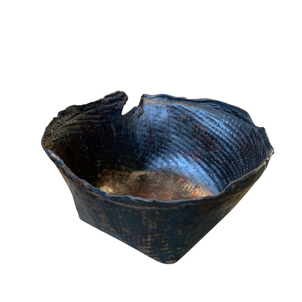 Contemporary Indonesian Buffalo Skin Bowl