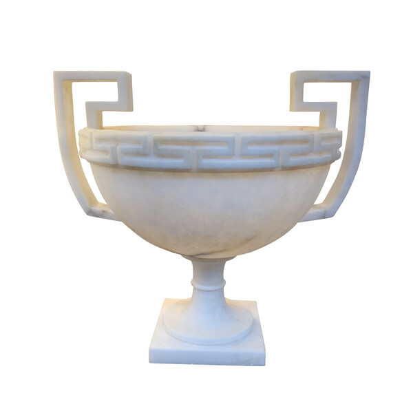 Contemporary Italian Footed Alabaster Bowl