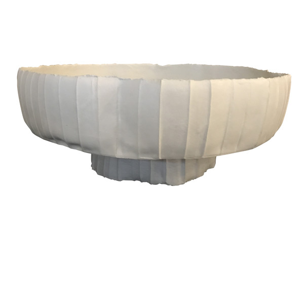 Contemporary Italian Footed Porcelain Bowl