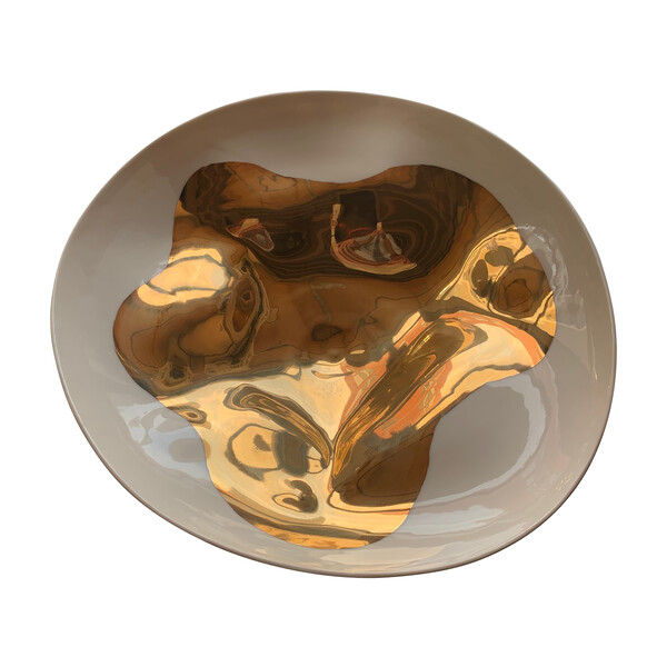 Contemporary Italian Gold Flame Medium Bowl