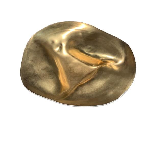 Contemporary Italian Handmade Small Gold Bowl