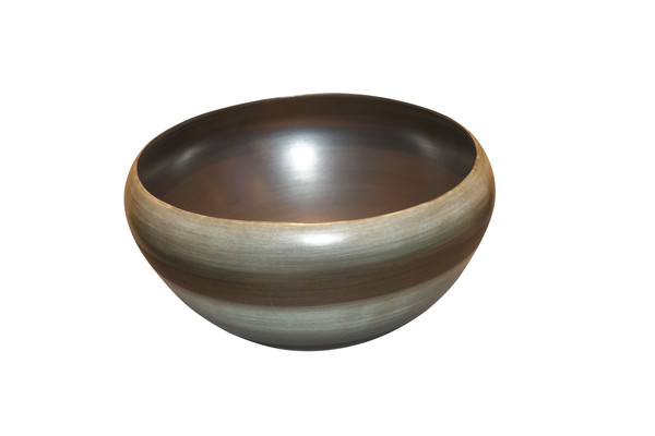 Contemporary Italian Ombre Striped Bowl