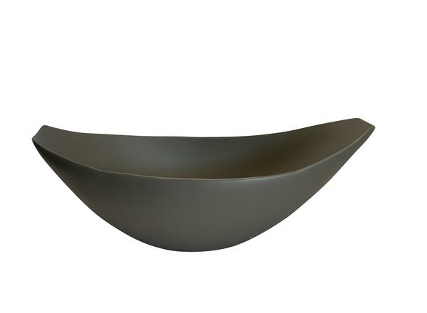 Contemporary Italian Oval Shaped Fine Ceramic Bowl