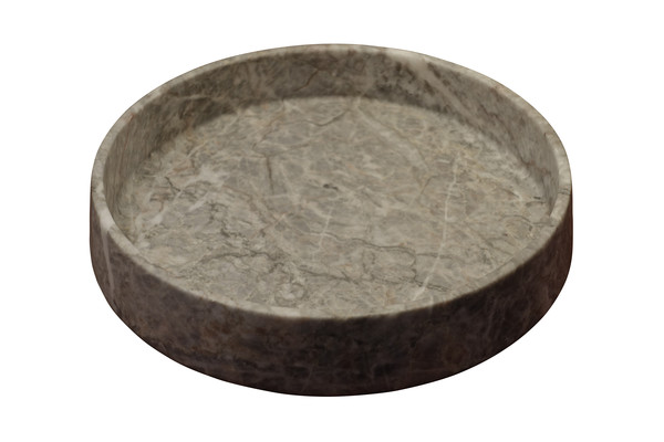 Contemporary Italian Round Grey Marble Bowl