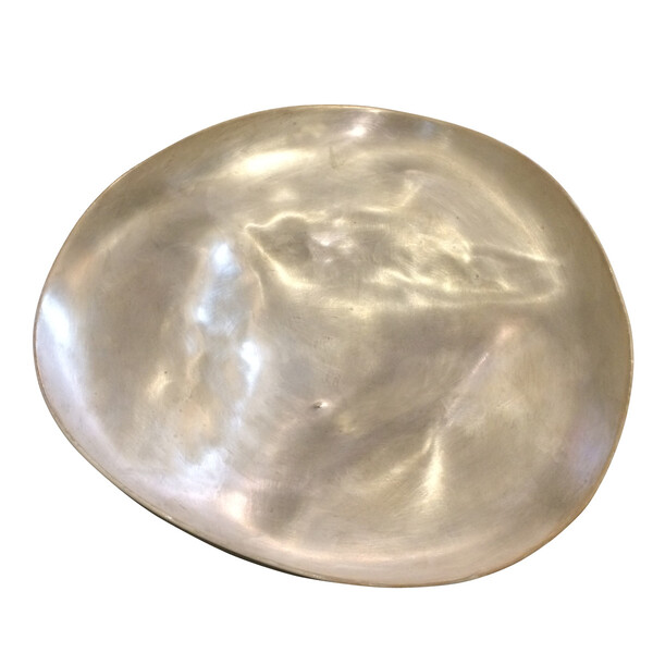 Contemporary Italian Silver Leaf Large Bowl