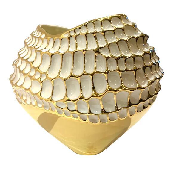 Contemporary Italian Textured Porcelain Bowl