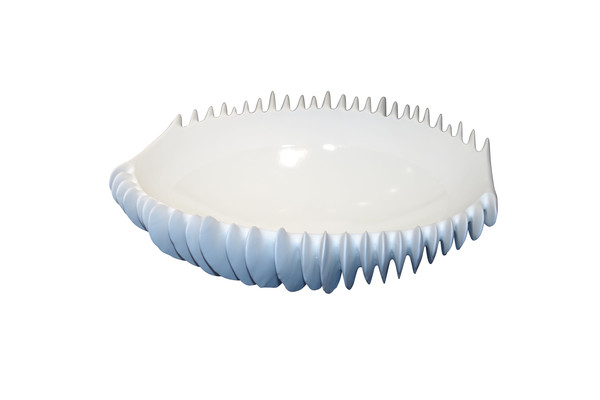 Contemporary Italian White Porcelain Bowl