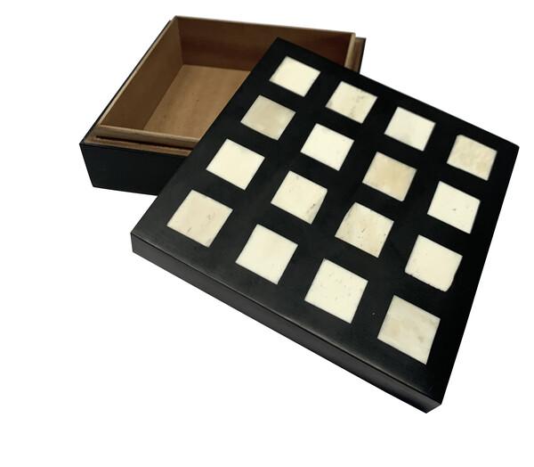Contemporary Indonesia Cream Square Top Box