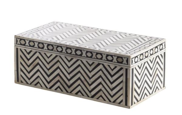 Contemporary Indonesia Zig Zag Pattern Box