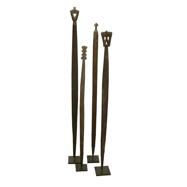 19thc African Weaver Stick Sculpture