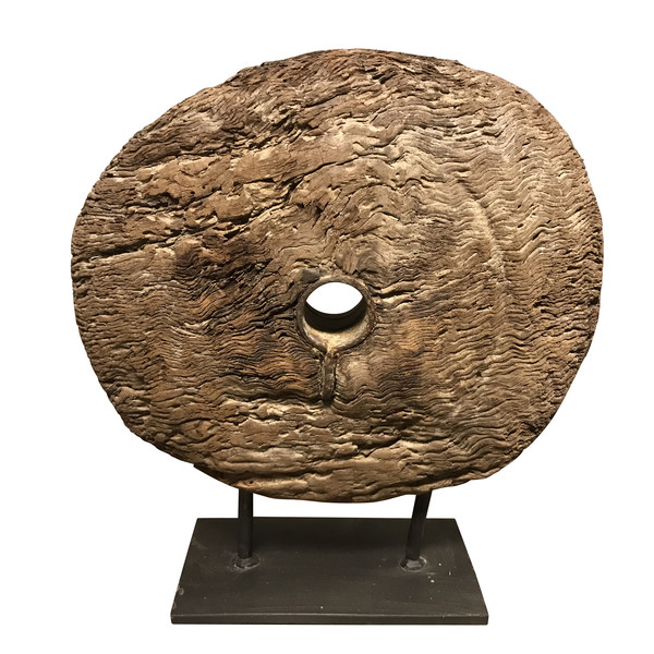 19thc Indian Wooden Wheel