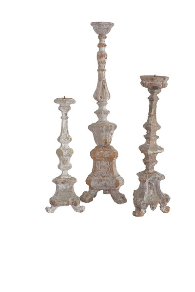 19thc Italian Carved Candlestick