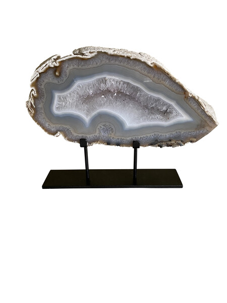 Brazilian Thick Sliced Agate on Stand