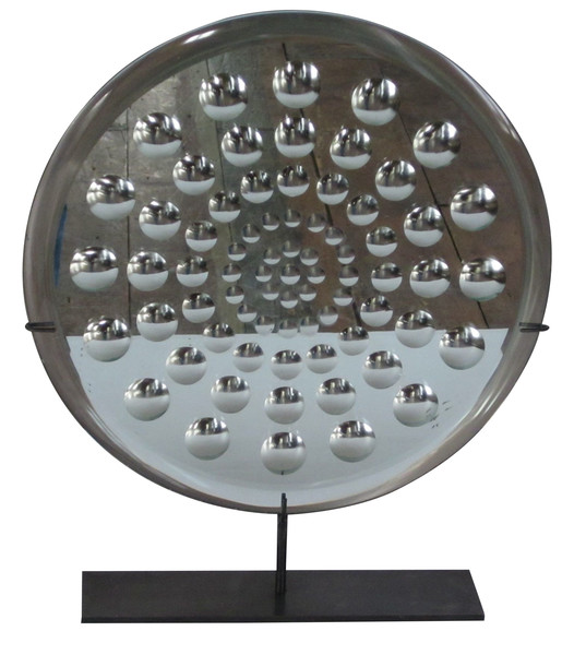 Contemporary Belgian Round Mirror On Stand