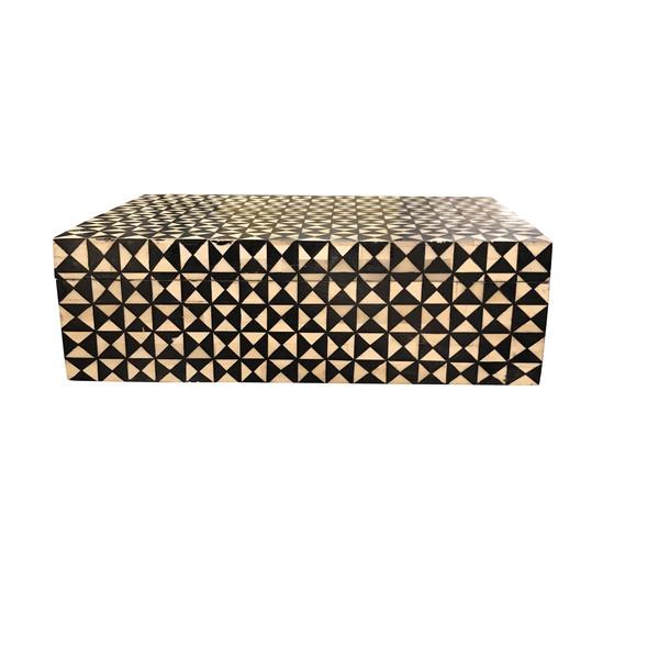 Contemporary Black And White Bone Box