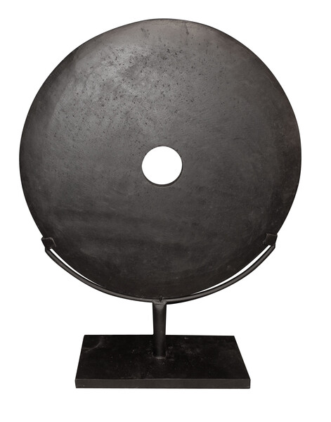 Contemporary Chinese Black Stone Disc