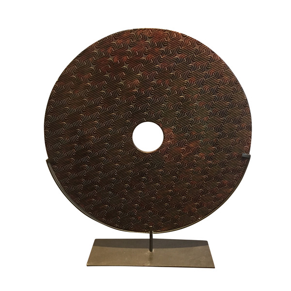 Contemporary Chinese Extra Large Stone Disc on Stand