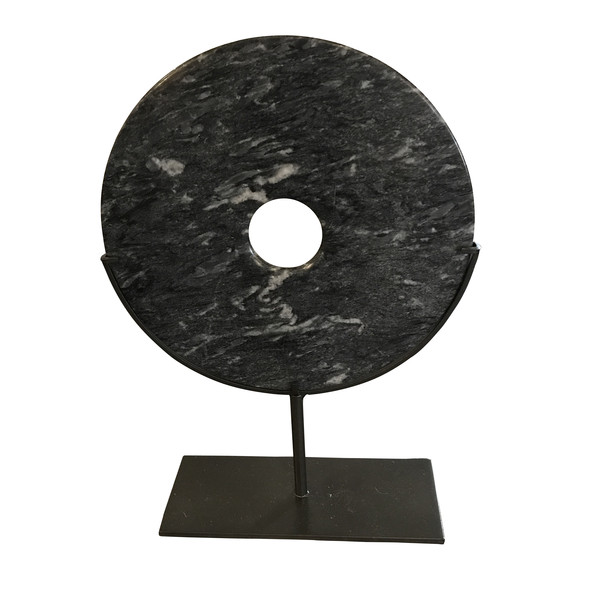 Contemporary Chinese Grey Stone Disc