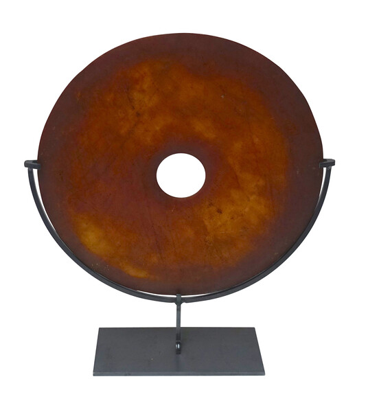 Contemporary Chinese Smooth Stone Disc