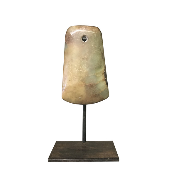 Contemporary Chinese Stone Ax Head on Stand