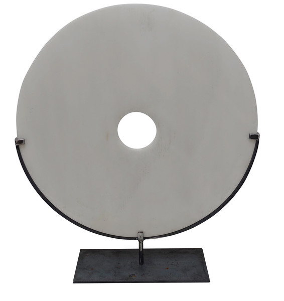 Contemporary Chinese  XL White Stone Disc