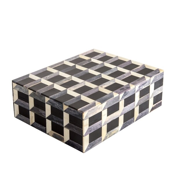 Contemporary Indonesian 3D Patterned Bone and Horn Box