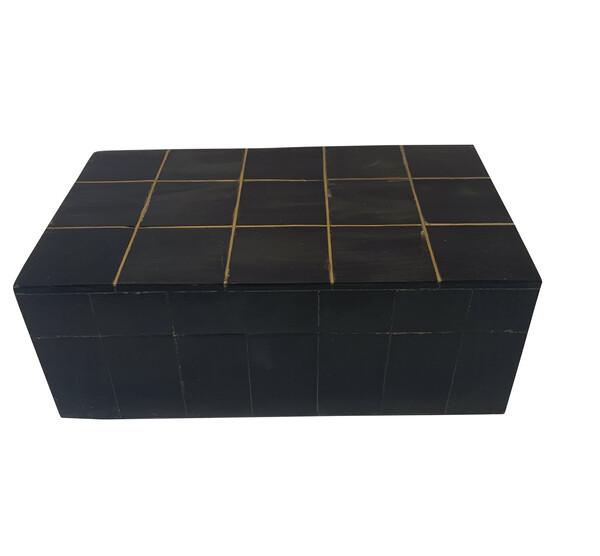 Contemporary Indonesian Charcoal Bone Box