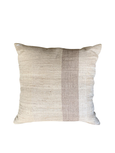 Contemporary Indonesian Handspun Linen Pillow