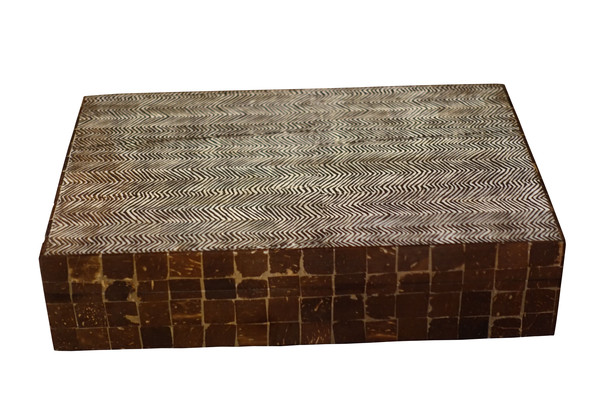 Contemporary Indonesian Herringbone Design Box