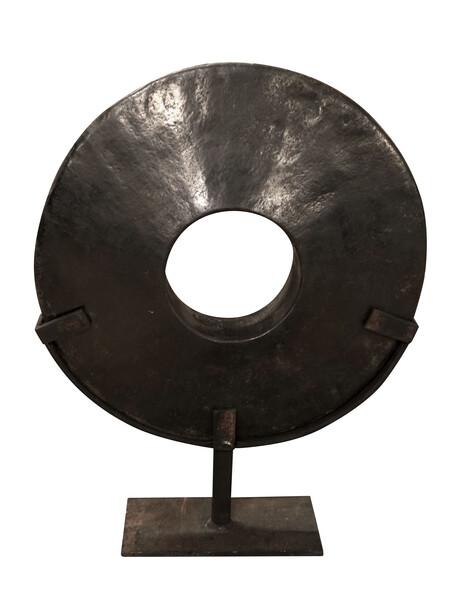 Contemporary Indonesian XL Black Stone Disc