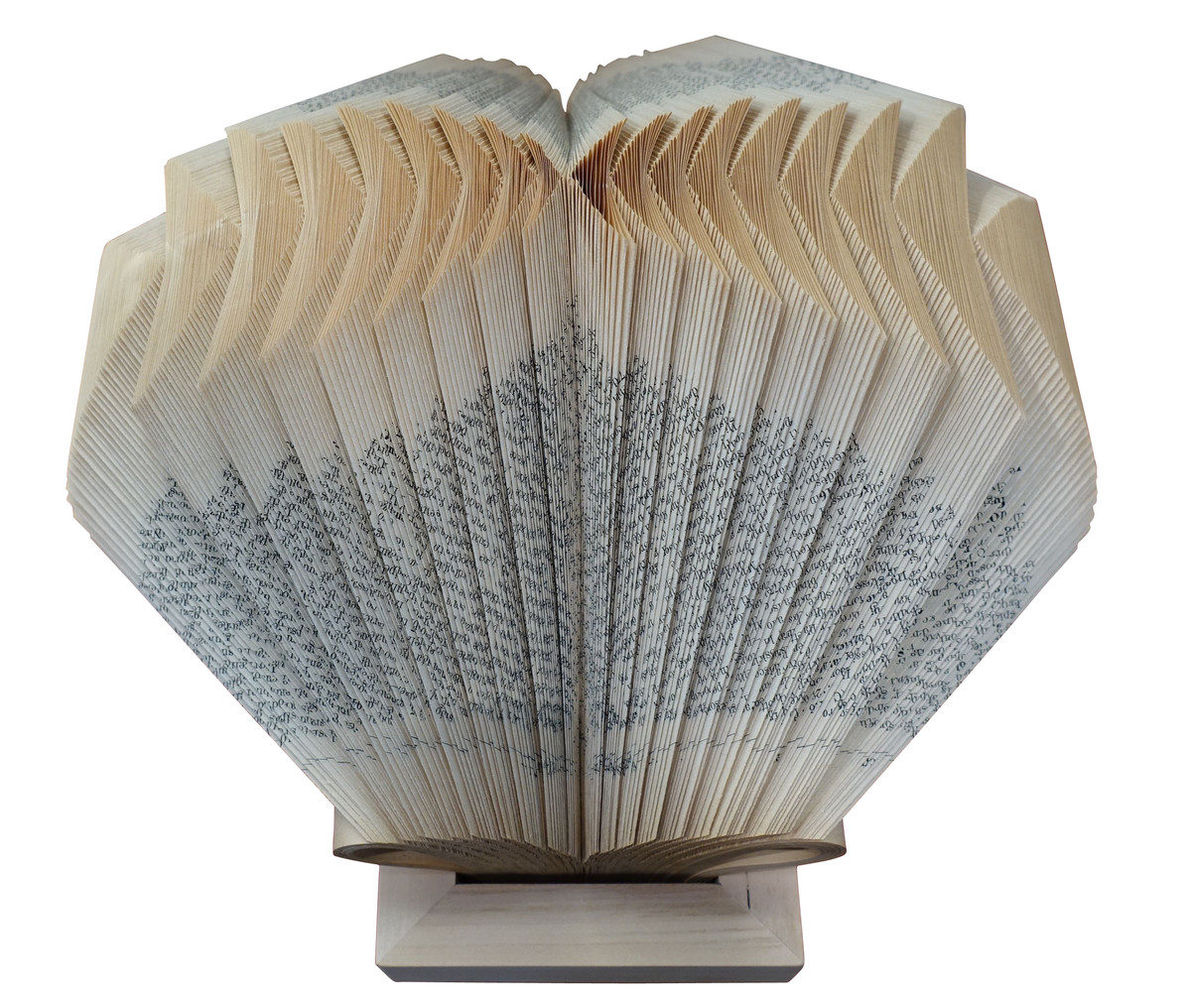 Balsamo antiques contemporary italian folded book sculpture for Decorative objects for home