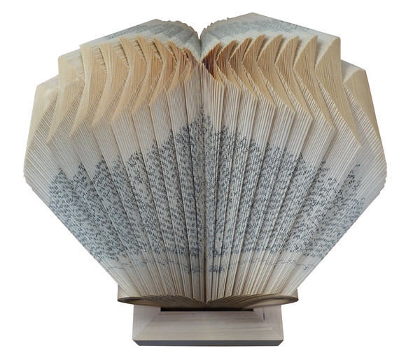 Balsamo antiques contemporary italian folded book sculpture for Modern decorative objects