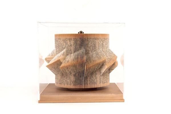Contemporary Italian Folded Book Sculpture