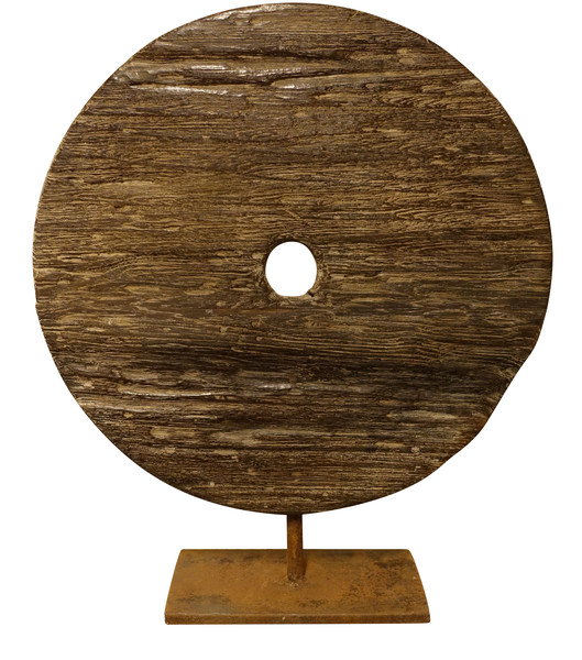 Indonesia  Carved Wood Round Disc