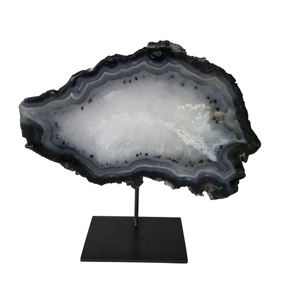 Madagascar Agate Slice on Stand