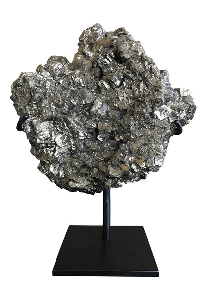 Pyrite Mineral on Stand