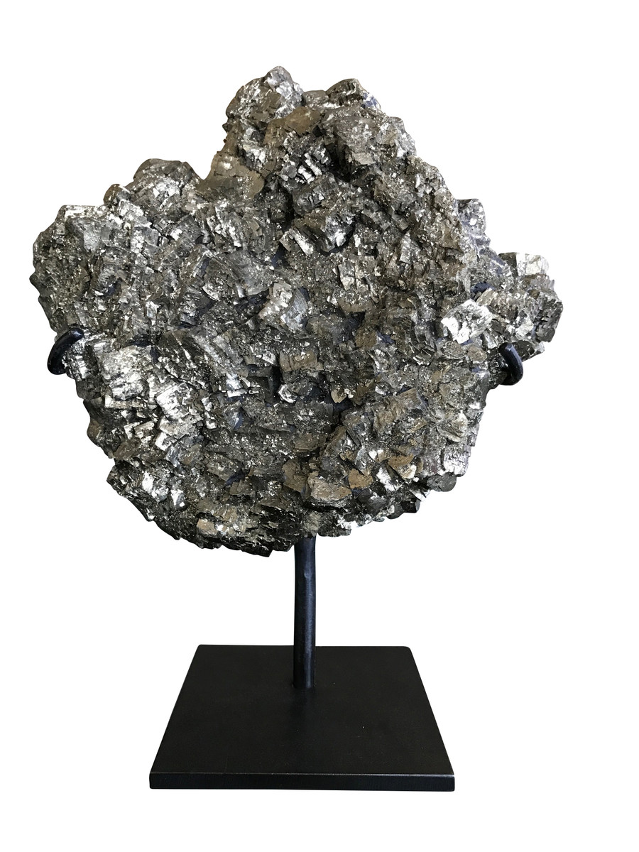 Balsamo antiques pyrite mineral on stand for Decorative objects for home