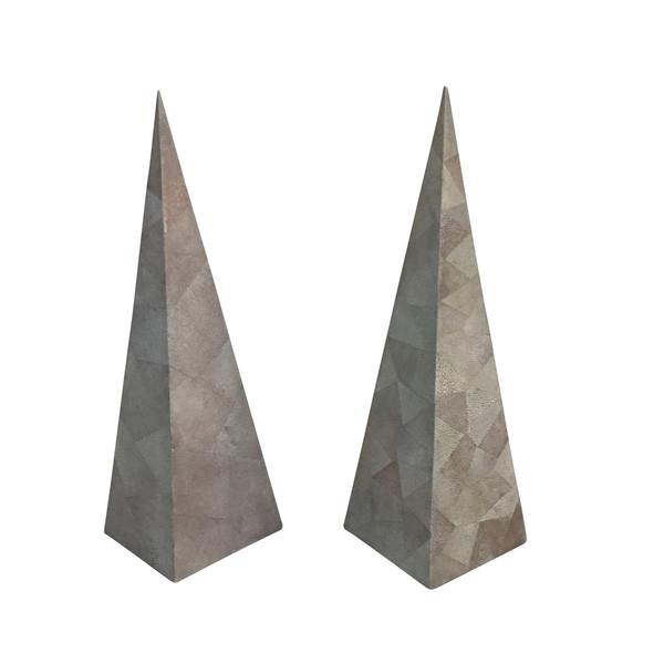 1960's Phillipines Pair Maitland-Smith Obelisks