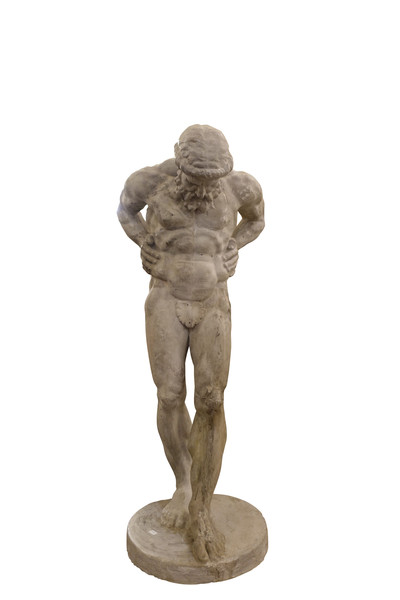 19thc French Plaster Statue of Atlas