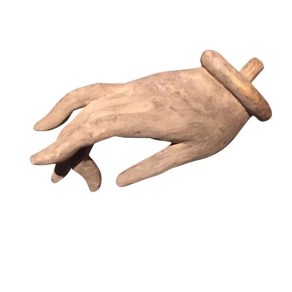 Contemporary Italian Wood Carved Hand