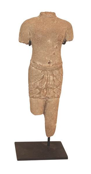 Contemporary Chinese Khmer Male Stone Figure