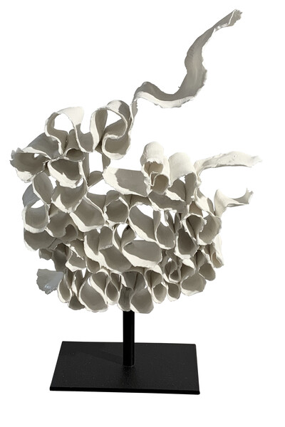 Contemporary French Porcelain Ribbon Sculpture