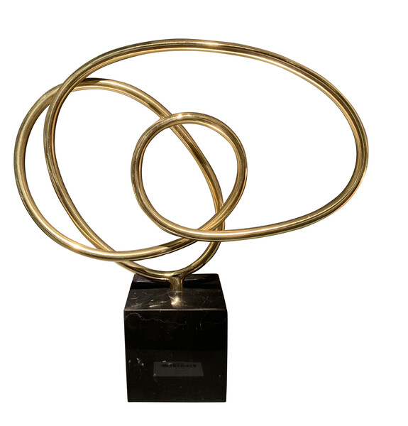Contemporary Indian Brass Free Form Sculpture