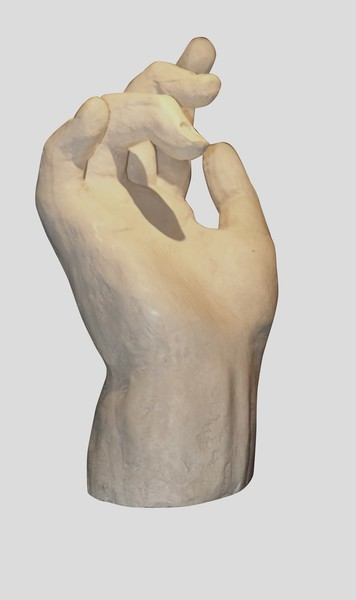 Contemporary Large Plaster Hand