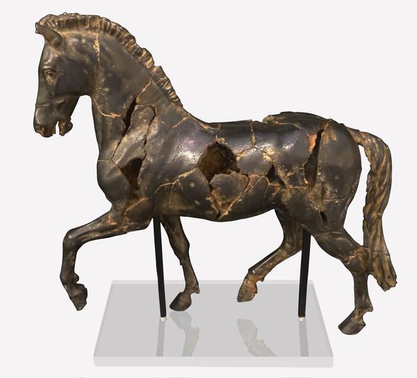 Contemporary Thailand Alabaster Horse Statue