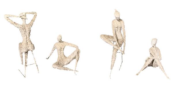 Mide Century Eastern European Artist Milovanovic Sculptures