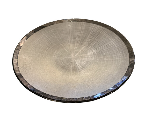 Contemporary Brazilian Ombre Patterned Glass Platter