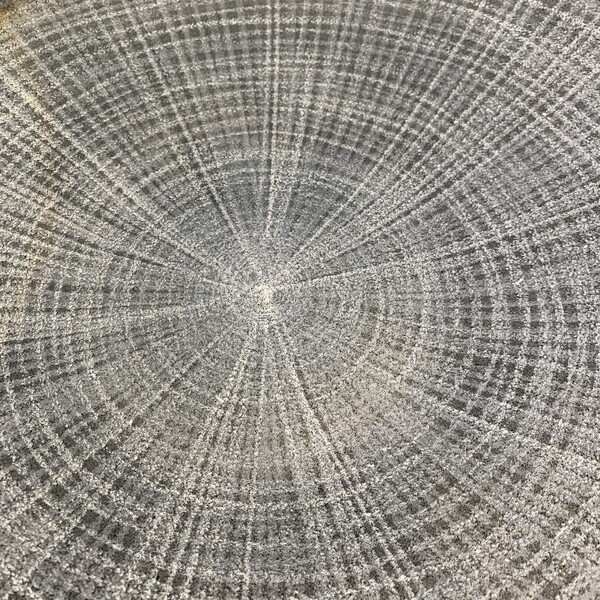 Contemporary Brazilian Ombre Patterned Glass Platter